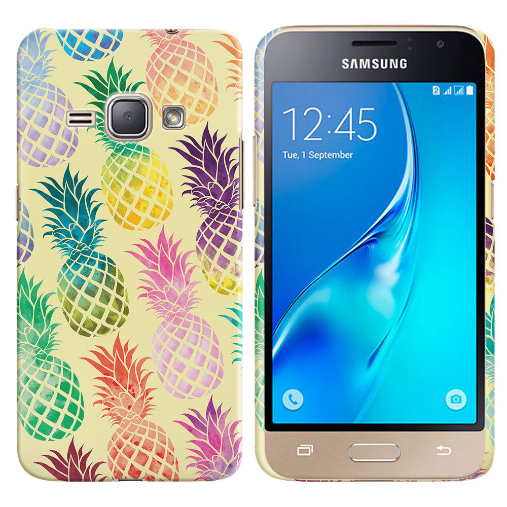 Samsung Galaxy J1 J120 2nd Gen 2016 Pastel Colorful Pineapple Yellow Pastel Back Cover Case