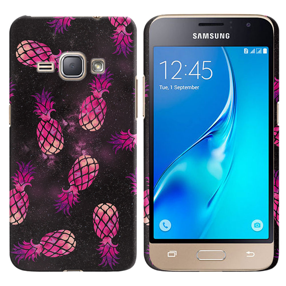 Samsung Galaxy J1 J120 2nd Gen 2016 Hot Pink Pineapple Pattern In Galaxy Back Cover Case
