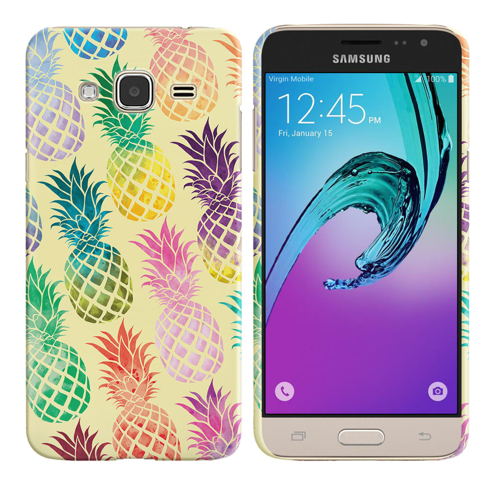 Samsung Galaxy J3 J310 J320 Pastel Colorful Pineapple Yellow Pastel Back Cover Case