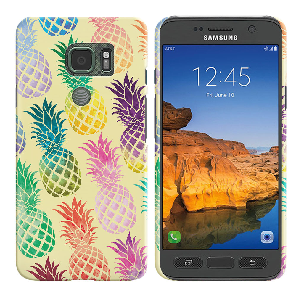 Samsung Galaxy S7 Active G891 Pastel Colorful Pineapple Yellow Pastel Back Cover Case