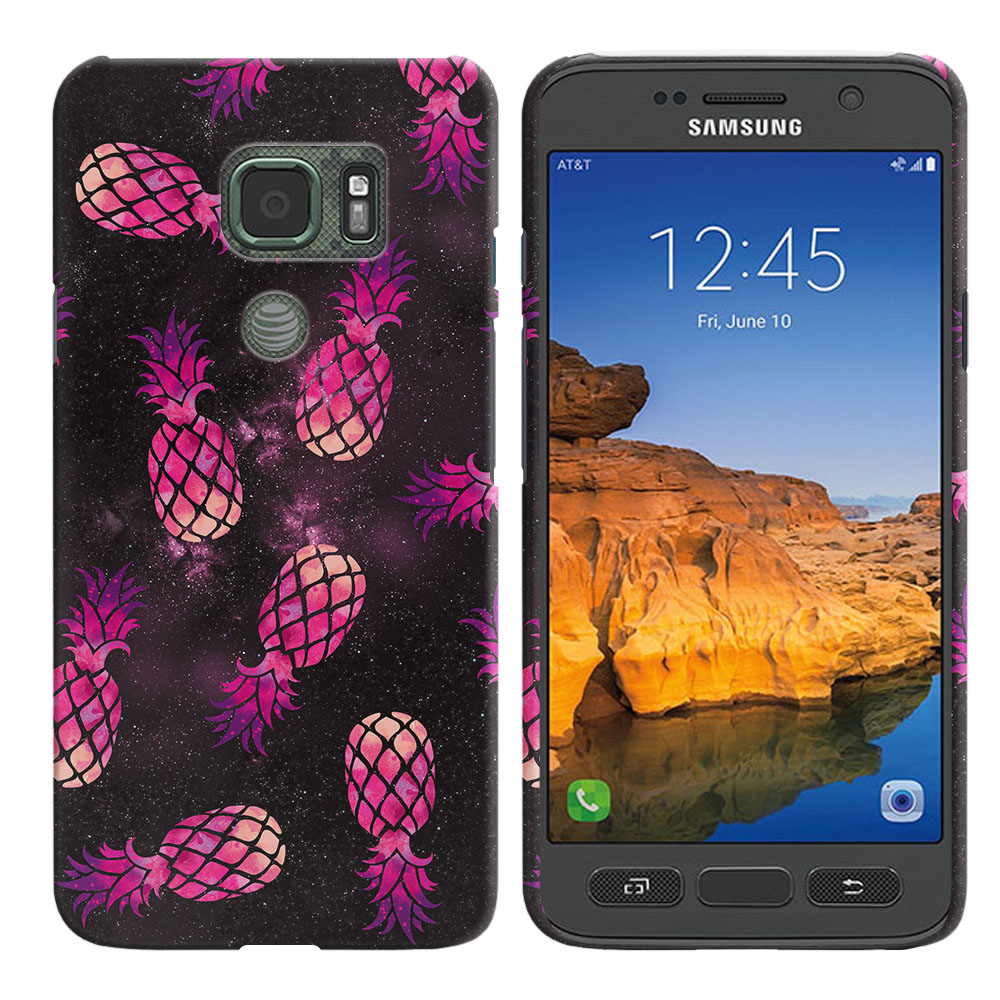Samsung Galaxy S7 Active G891 Hot Pink Pineapple Pattern In Galaxy Back Cover Case