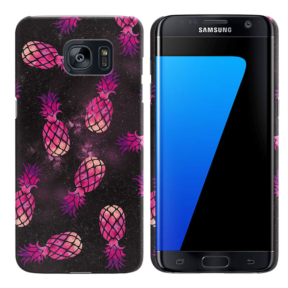 Samsung Galaxy S7 Edge G935 Hot Pink Pineapple Pattern In Galaxy Back Cover Case