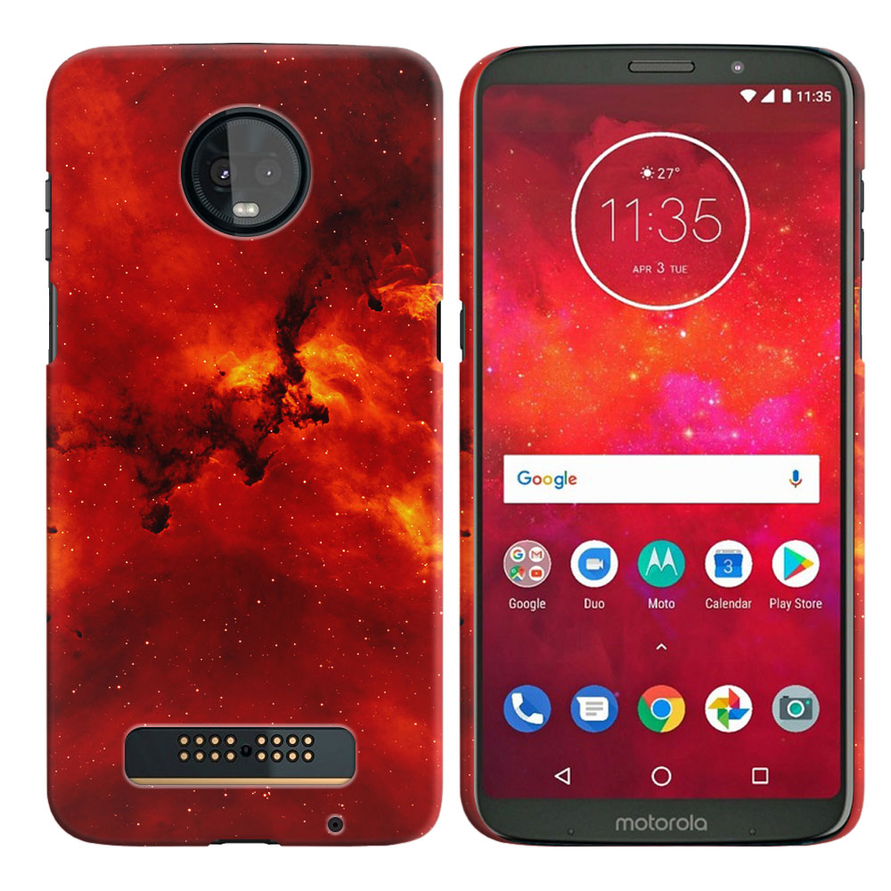 Motorola Moto Z3 Play Fiery Galaxy Back Cover Case