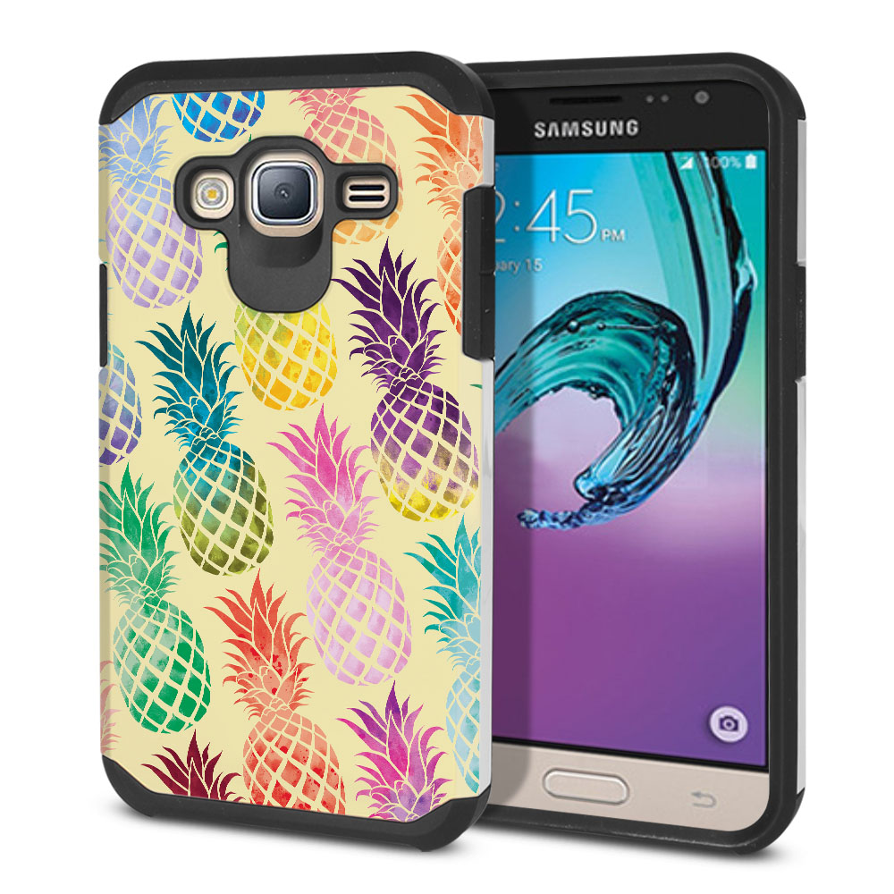 Samsung Galaxy J3 J310 J320 Hybrid Slim Fusion Pastel Colorful Pineapple Yellow Pastel Protector Cover Case
