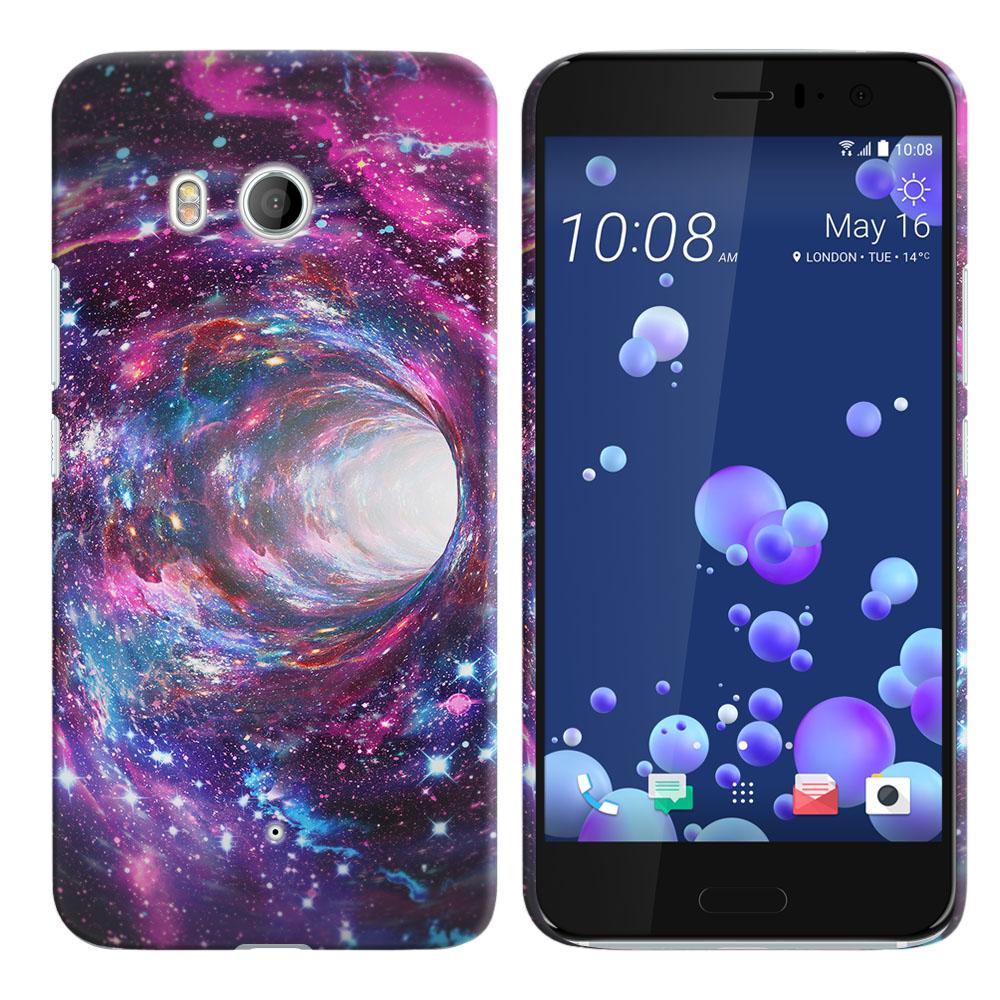 HTC U11 Ocean Space Wormhole Back Cover Case