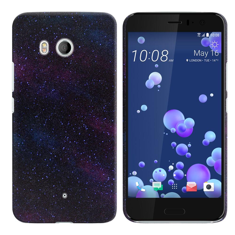 HTC U11 Ocean Starry Night Sky Back Cover Case