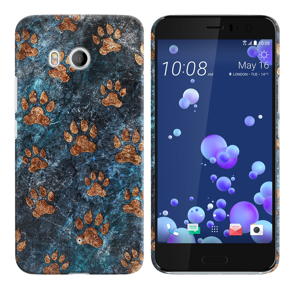 HTC U11 Ocean Stone Dog Paws Back Cover Case