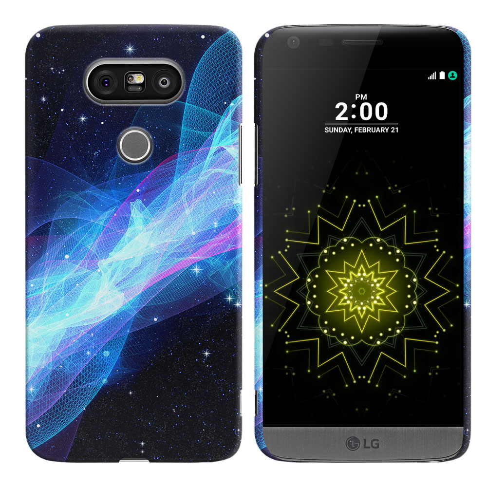 LG G5 H850 VS987 Glowing Space Wave Back Cover Case