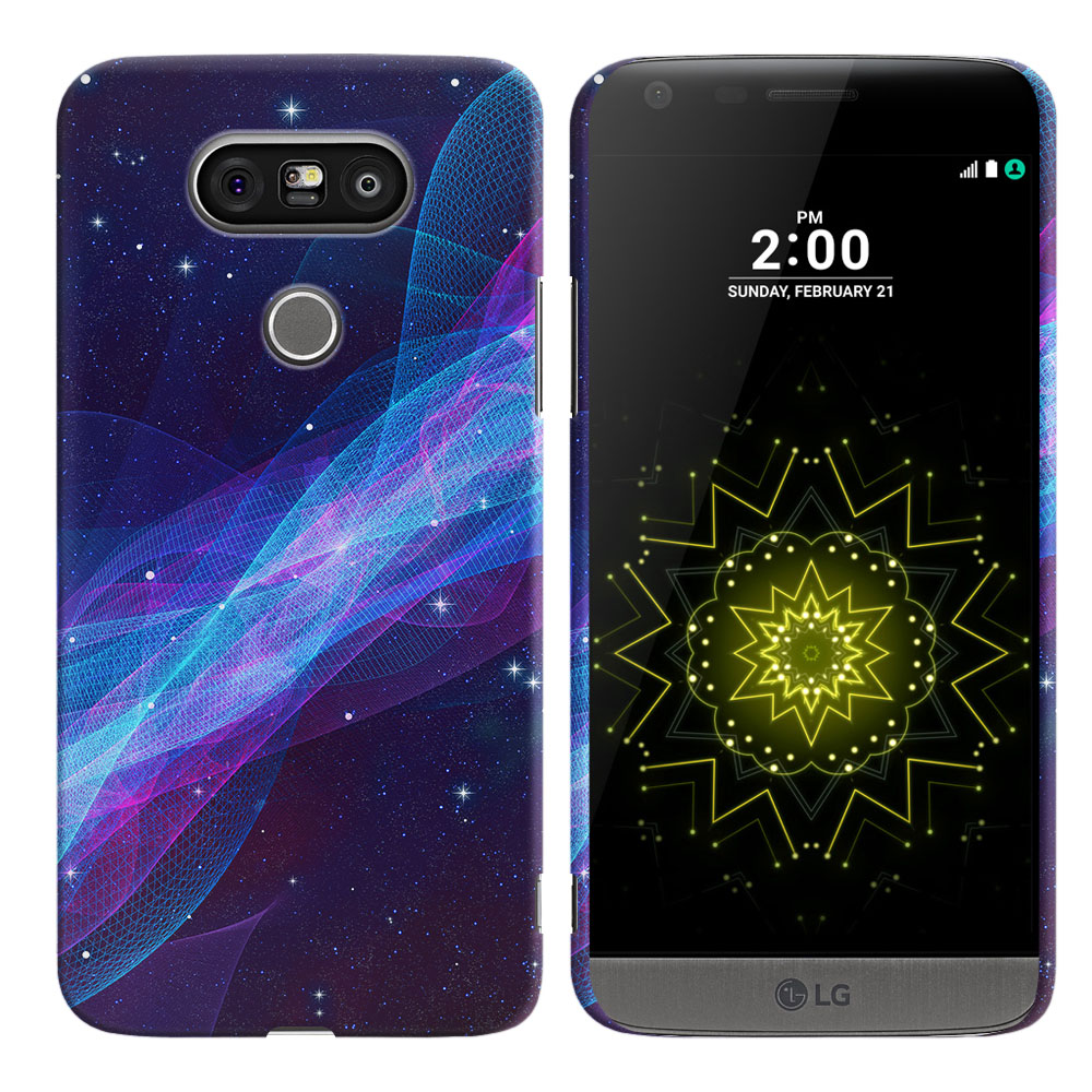 LG G5 H850 VS987 Space Wave Back Cover Case