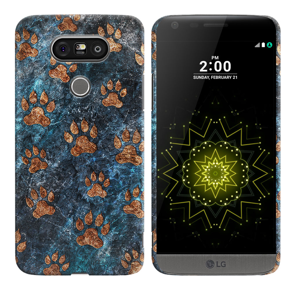 LG G5 H850 VS987 Stone Dog Paws Back Cover Case