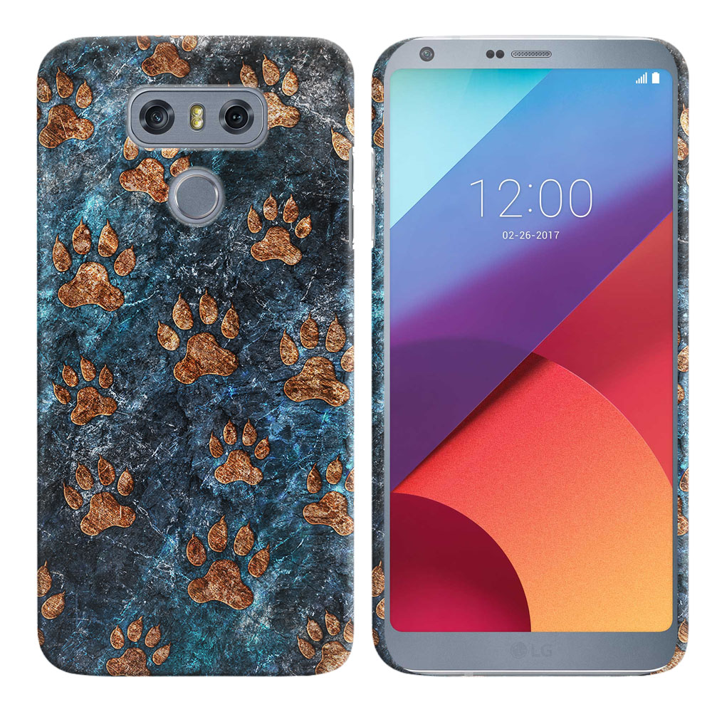 LG G6 H870 Stone Dog Paws Back Cover Case