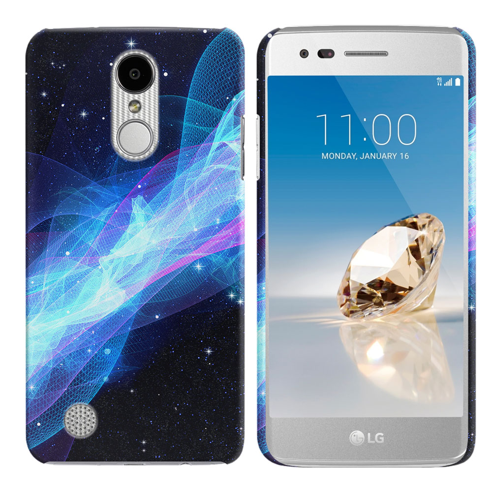 LG Aristo MS210 LV3 K8 (2017)/ Phoenix 3 M150 Glowing Space Wave Back Cover Case