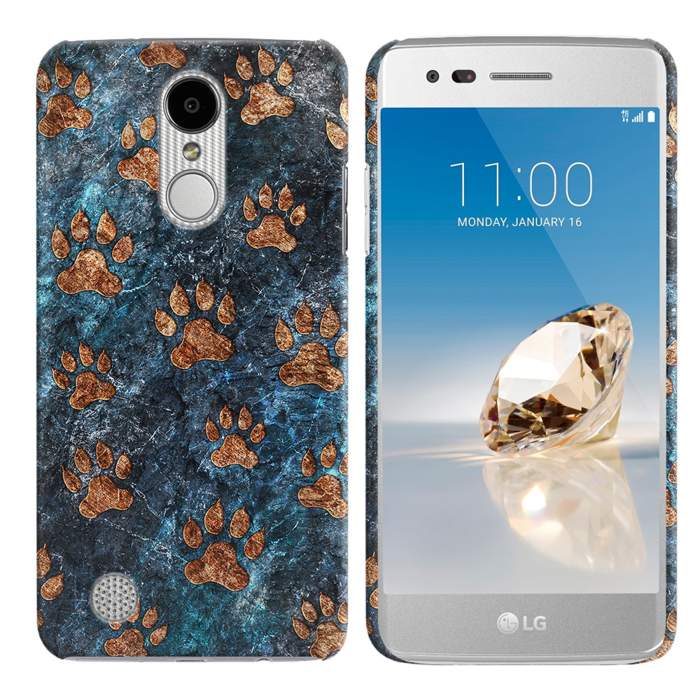 LG Aristo MS210 LV3 K8 (2017)/ Phoenix 3 M150 Stone Dog Paws Back Cover Case