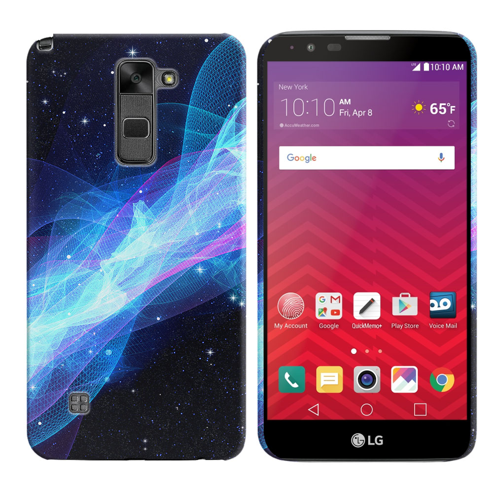 LG Stylus 2 LS775 K520 Stylo 2 Glowing Space Wave Back Cover Case