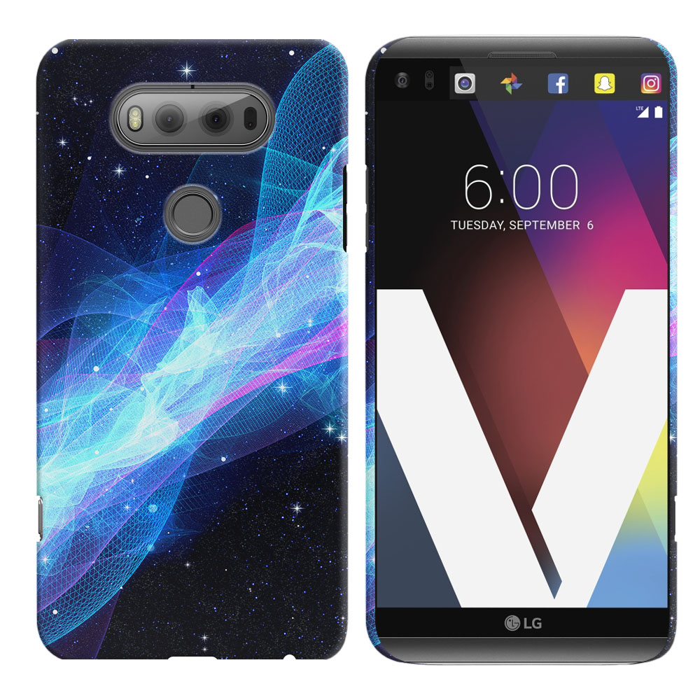 LG V20 VS995 H990 LS997 H910 H918 US996 Glowing Space Wave Back Cover Case