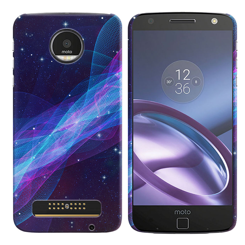 Motorola Moto Z Droid Edition Space Wave Back Cover Case