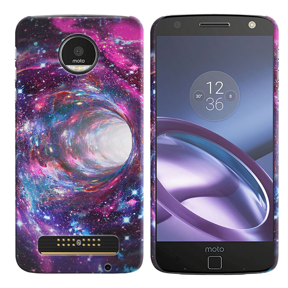 Motorola Moto Z Droid Edition Space Wormhole Back Cover Case