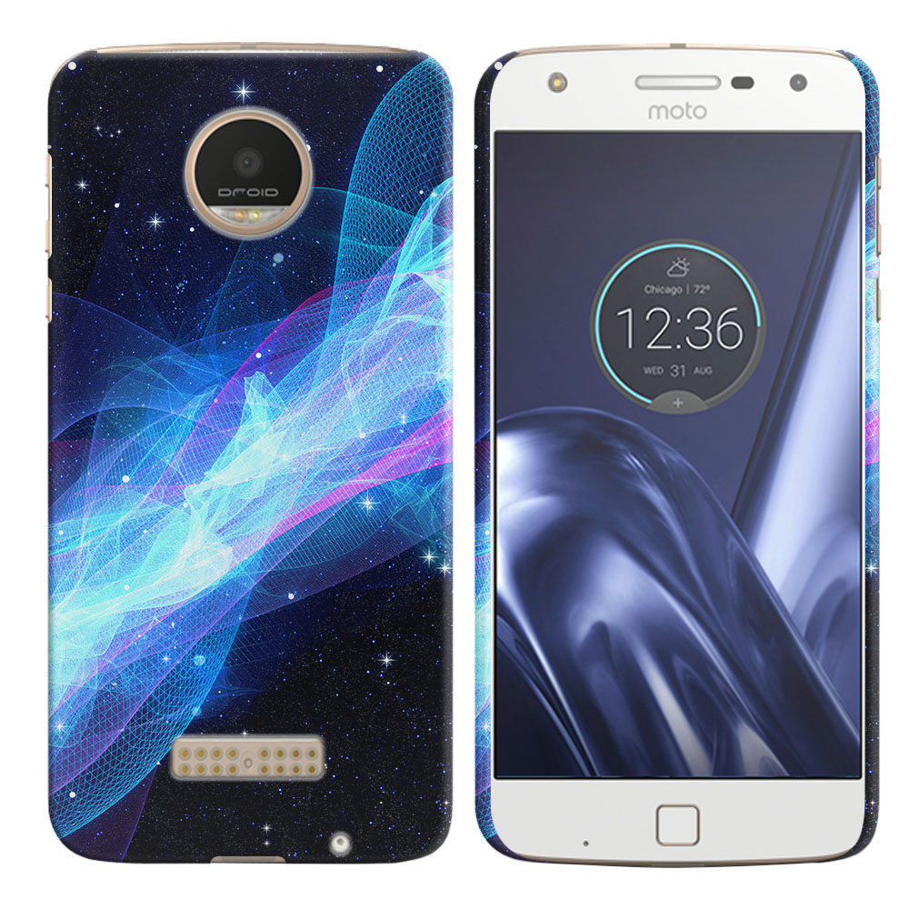 Motorola Moto Z Play Droid XT1635 Glowing Space Wave Back Cover Case