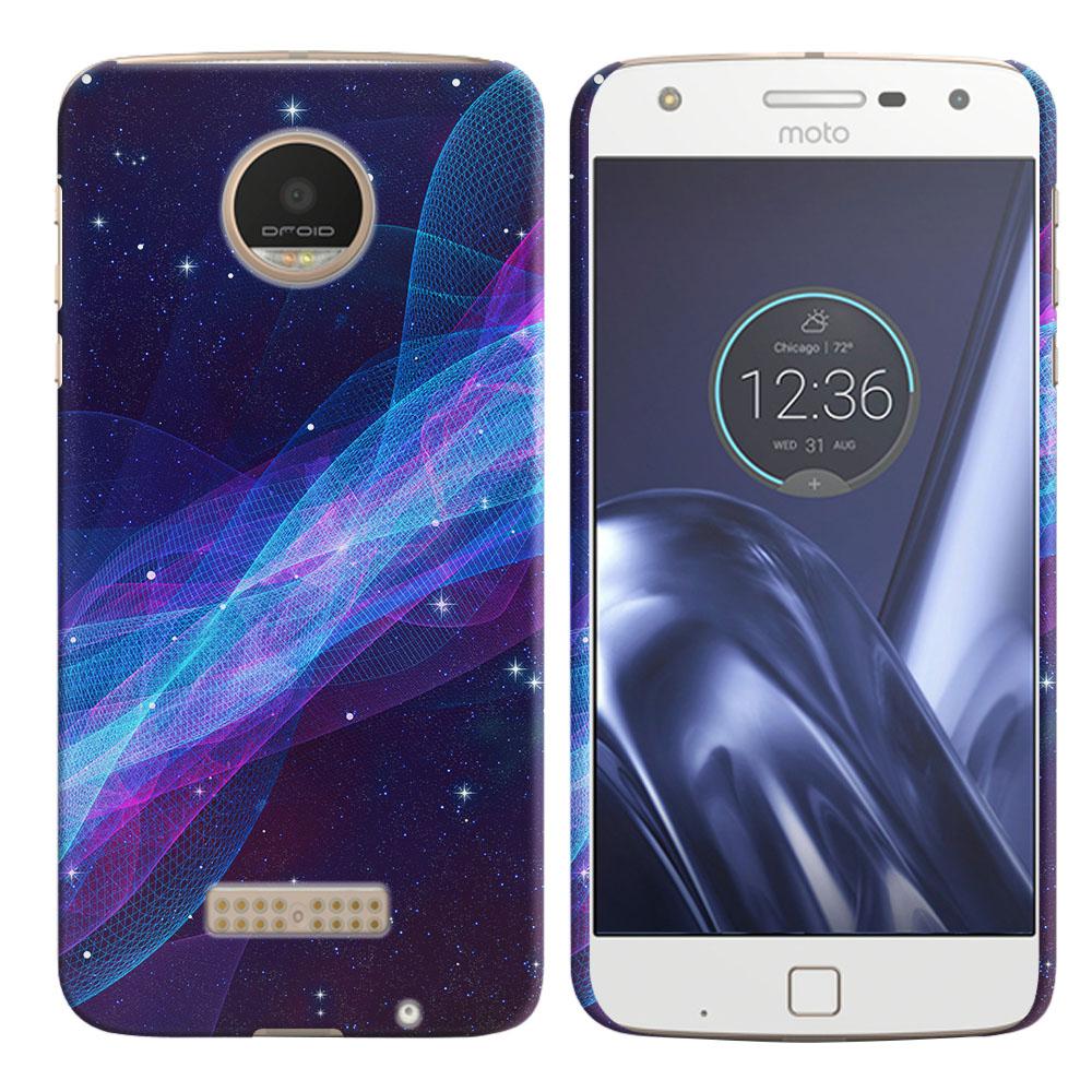 Motorola Moto Z Play Droid XT1635 Space Wave Back Cover Case