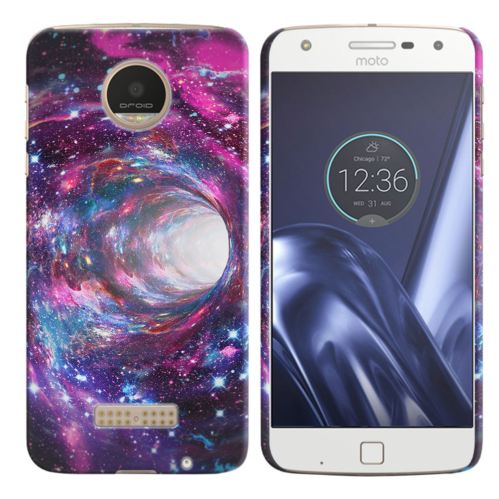 Motorola Moto Z Play Droid XT1635 Space Wormhole Back Cover Case