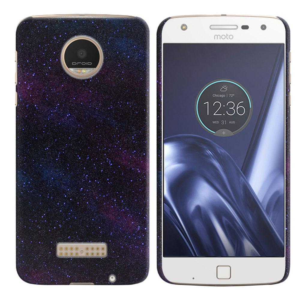 Motorola Moto Z Play Droid XT1635 Starry Night Sky Back Cover Case
