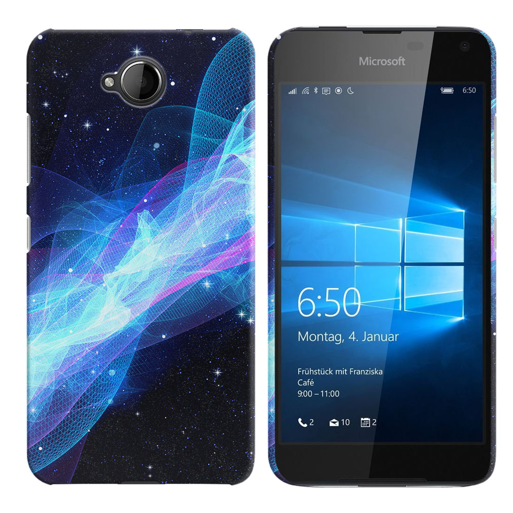 Microsoft Nokia Lumia 650 Glowing Space Wave Back Cover Case