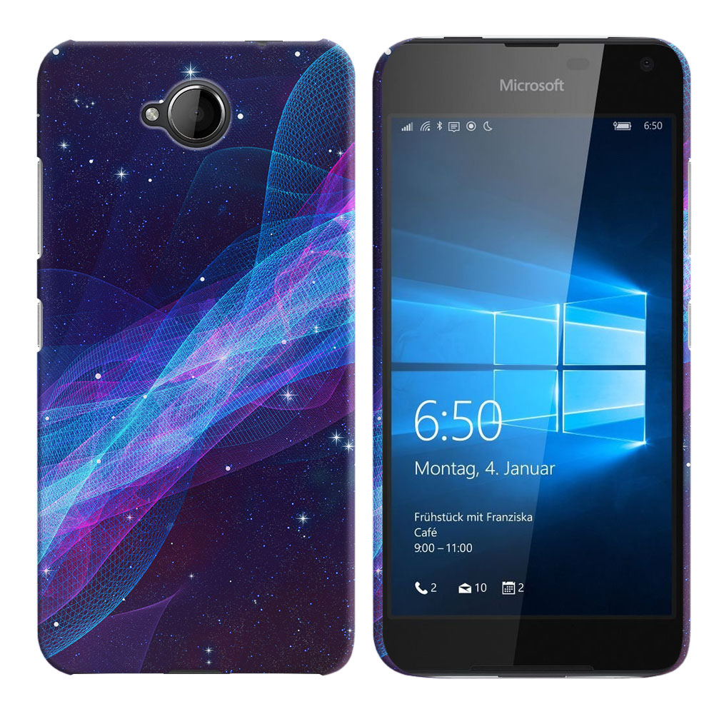 Microsoft Nokia Lumia 650 Space Wave Back Cover Case