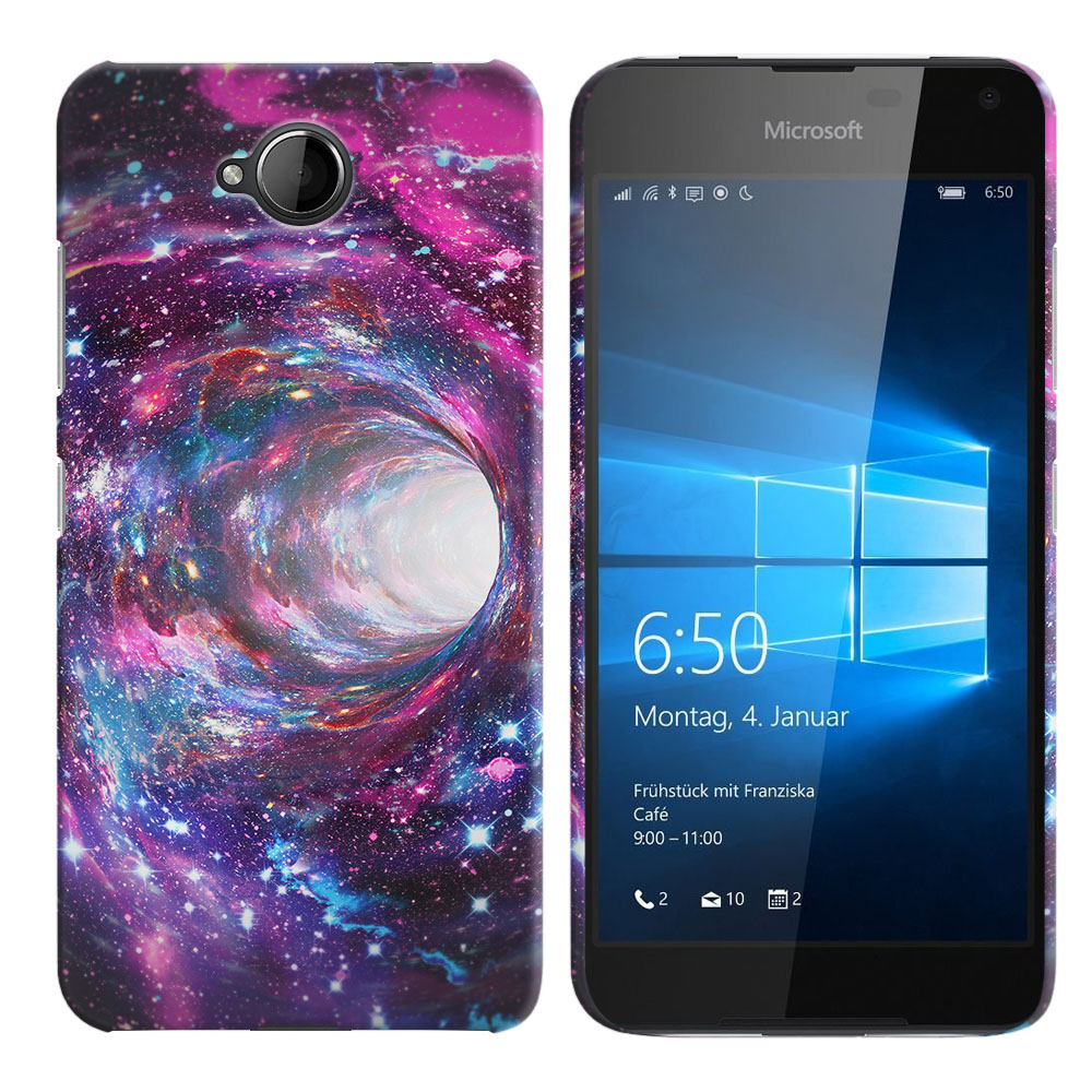 Microsoft Nokia Lumia 650 Space Wormhole Back Cover Case