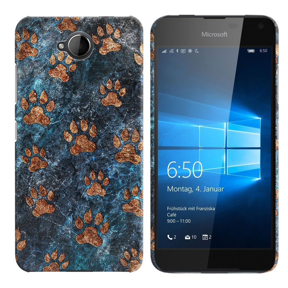 Microsoft Nokia Lumia 650 Stone Dog Paws Back Cover Case