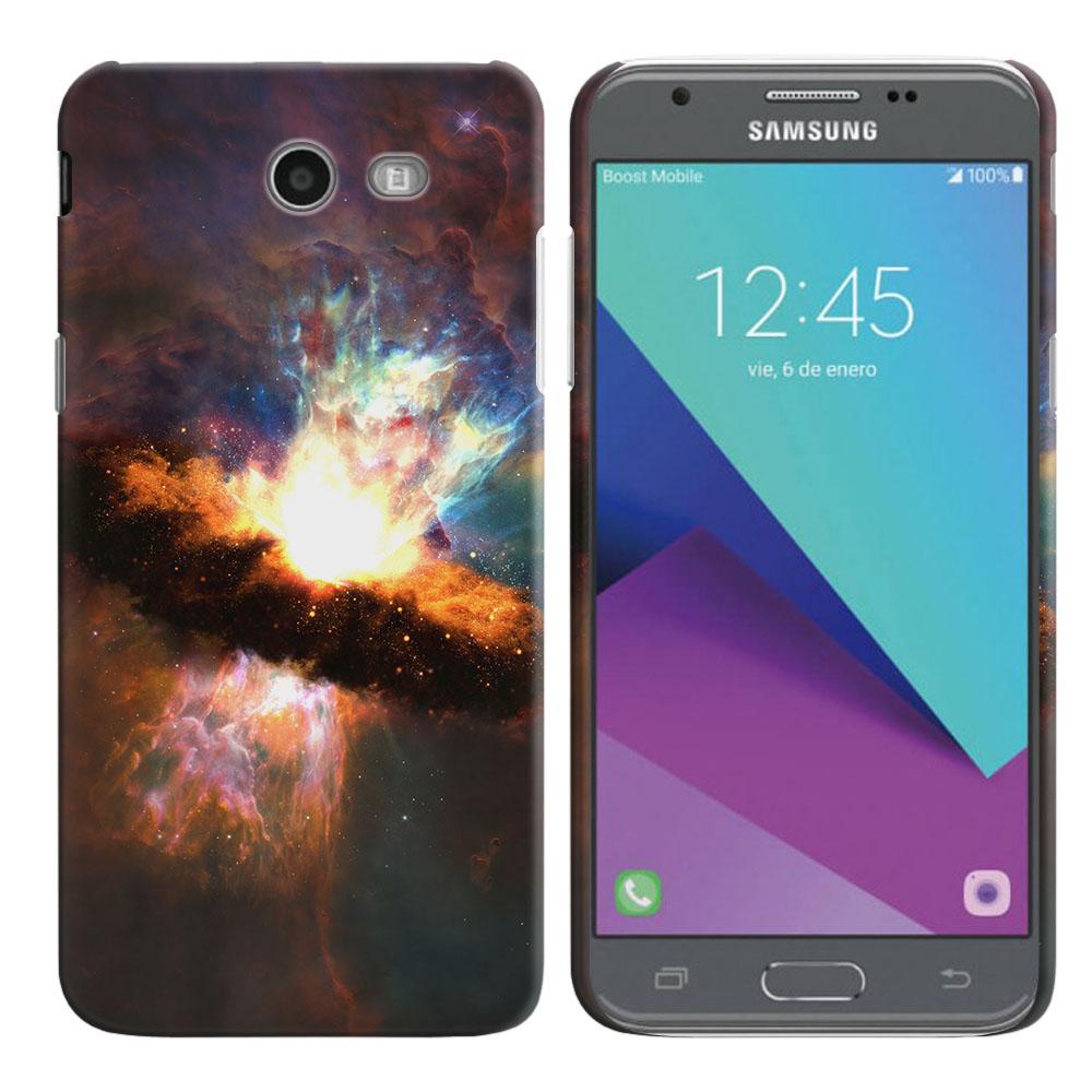 Samsung Galaxy J3 Emerge J327 2017 2nd Gen Space Kaboom Back Cover Case