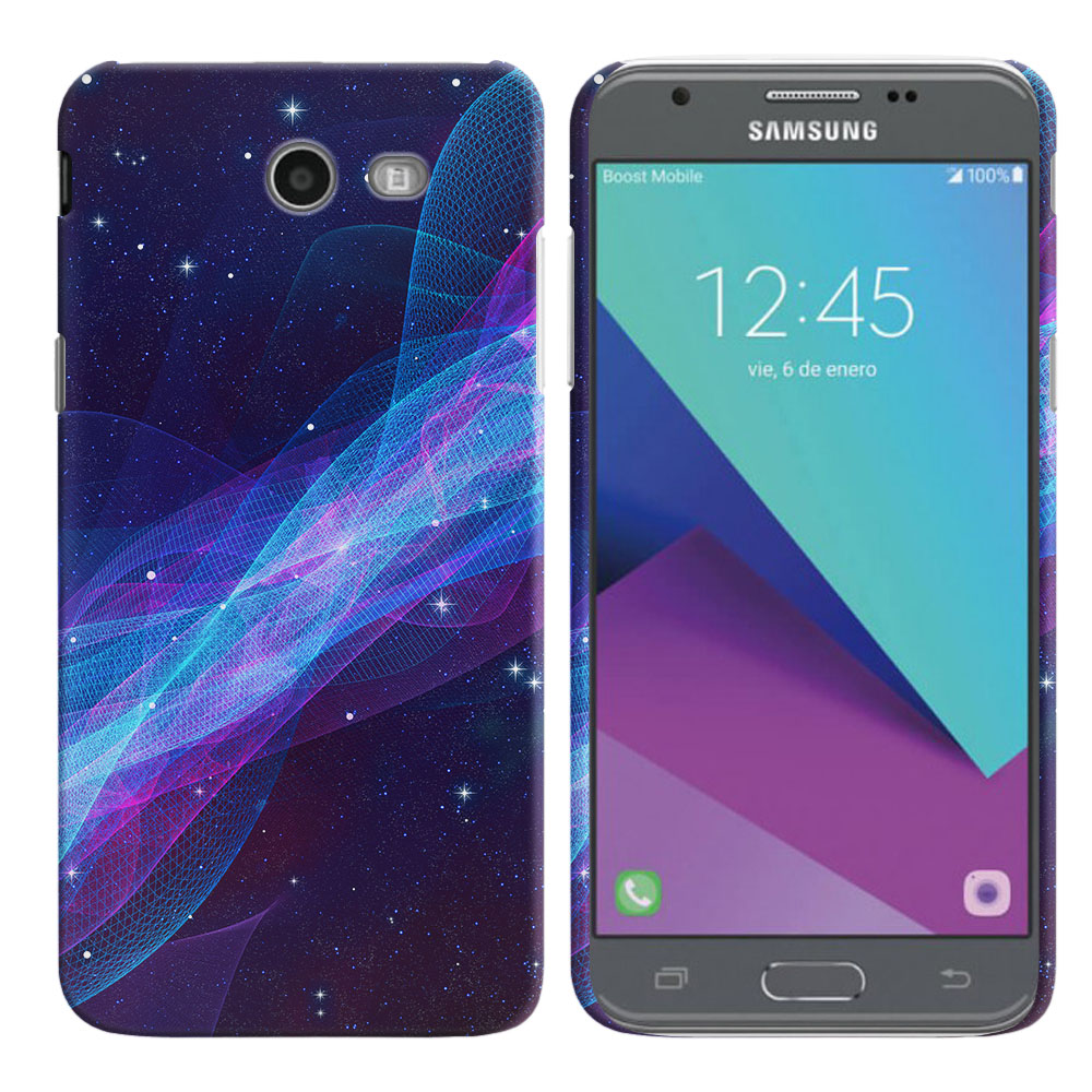 Samsung Galaxy J3 Emerge J327 2017 2nd Gen Space Wave Back Cover Case