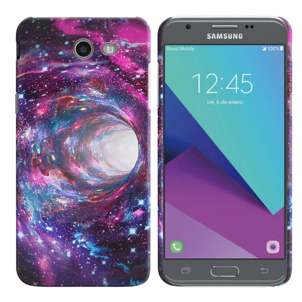 Samsung Galaxy J3 Emerge J327 2017 2nd Gen Space Wormhole Back Cover Case
