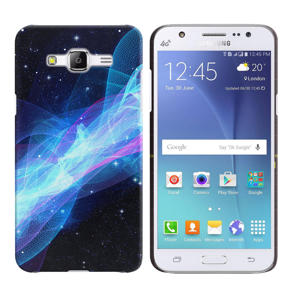Samsung Galaxy J5 J500 Glowing Space Wave Back Cover Case