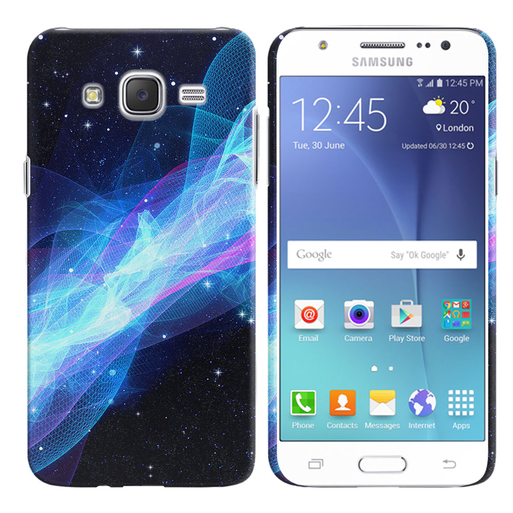 Samsung Galaxy J7 J700 Glowing Space Wave Back Cover Case