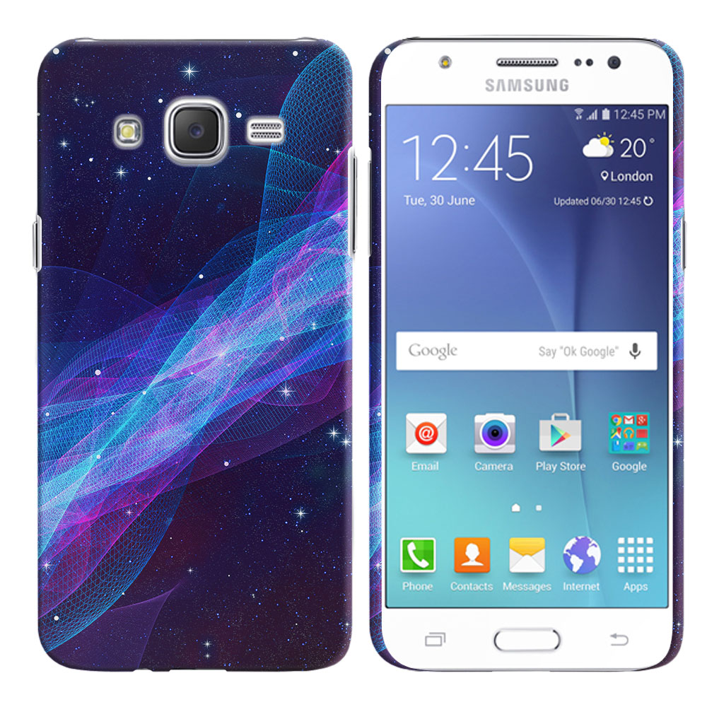 Samsung Galaxy J7 J700 Space Wave Back Cover Case