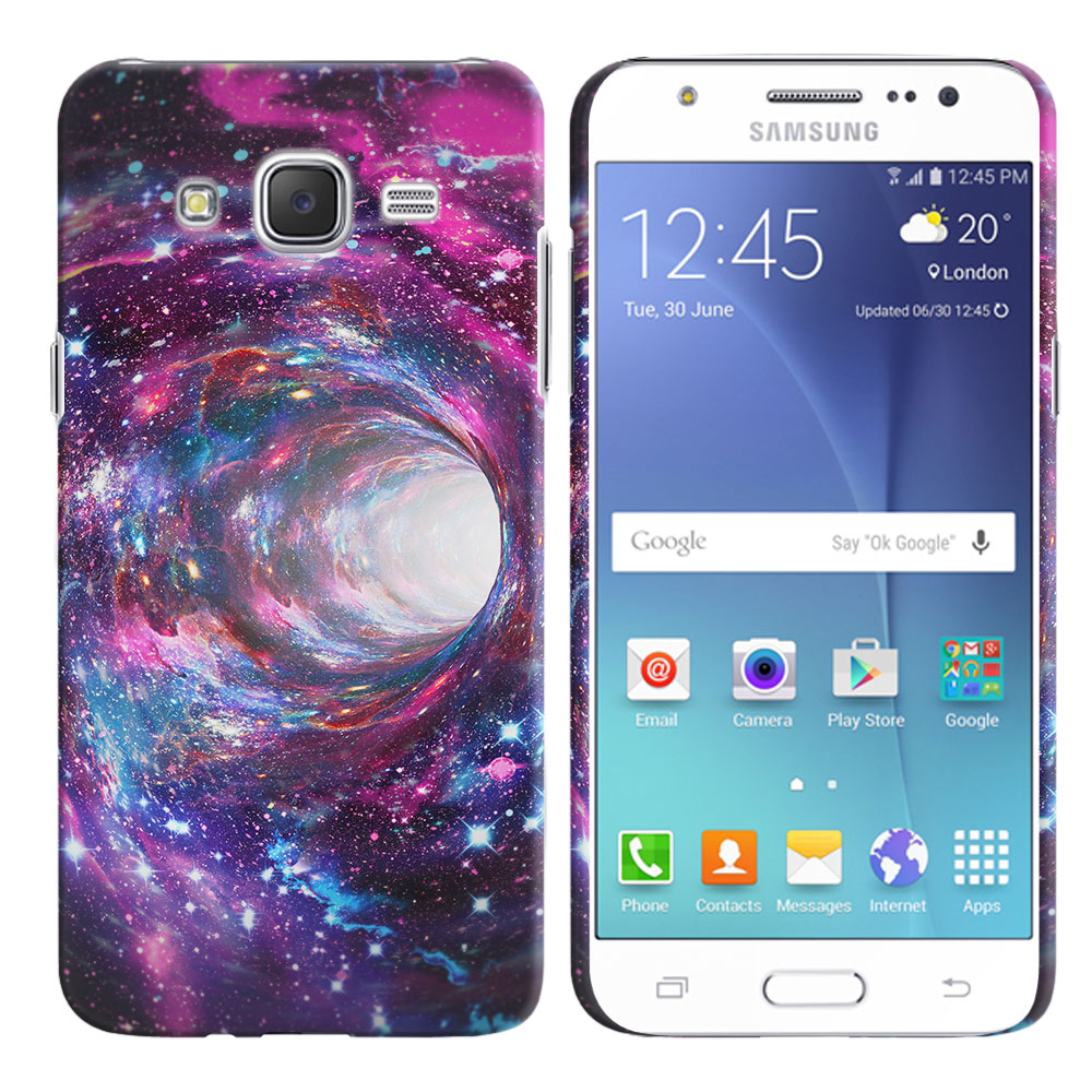 Samsung Galaxy J7 J700 Space Wormhole Back Cover Case