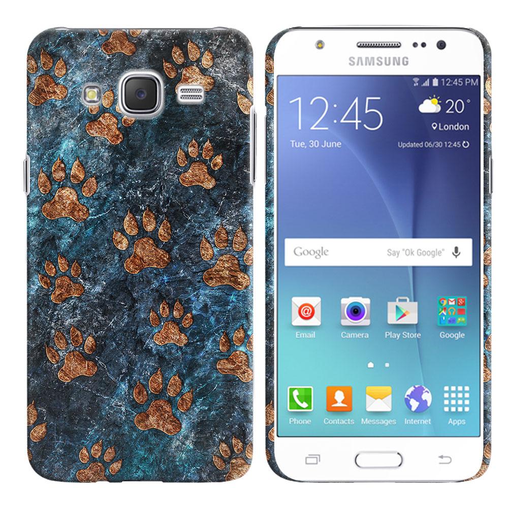 Samsung Galaxy J7 J700 Stone Dog Paws Back Cover Case