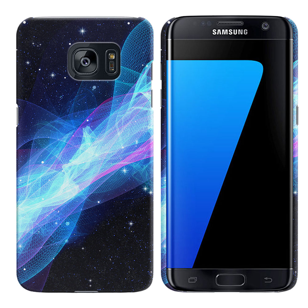 Samsung Galaxy S7 Edge G935 Glowing Space Wave Back Cover Case