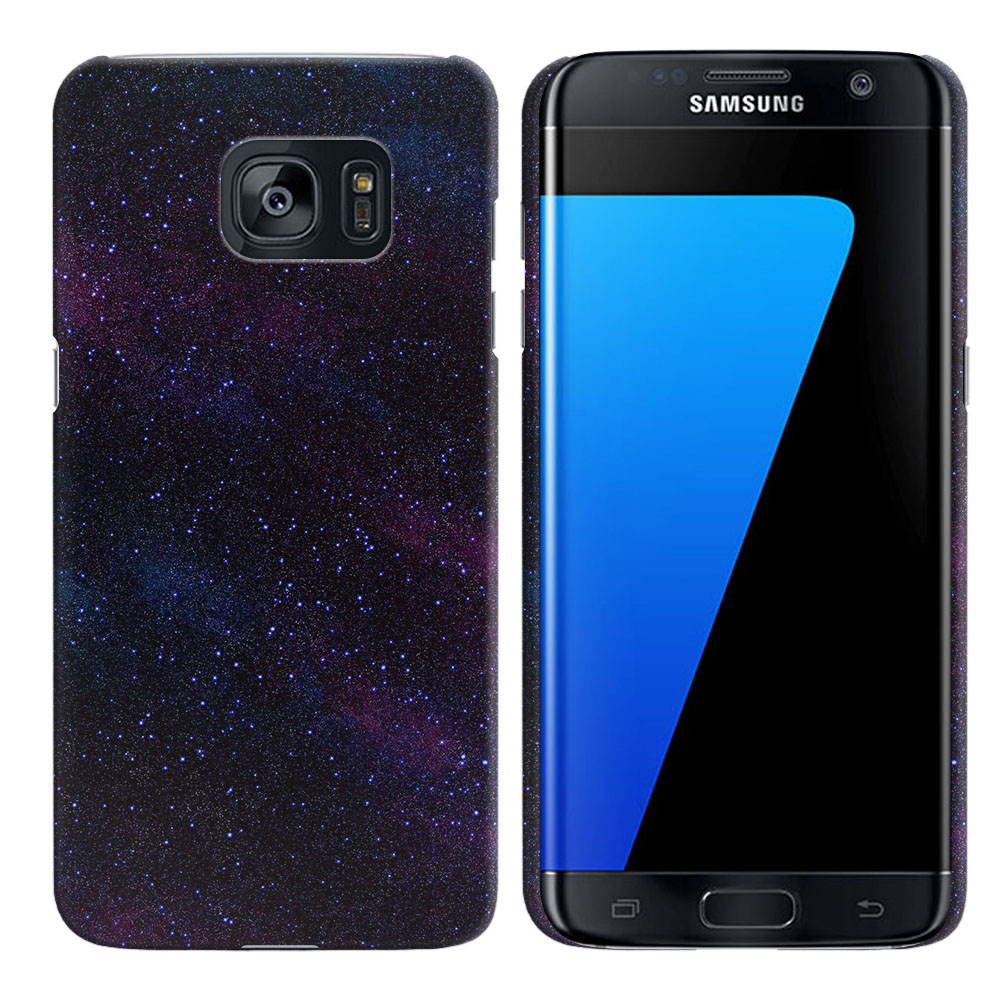 Samsung Galaxy S7 Edge G935 Starry Night Sky Back Cover Case