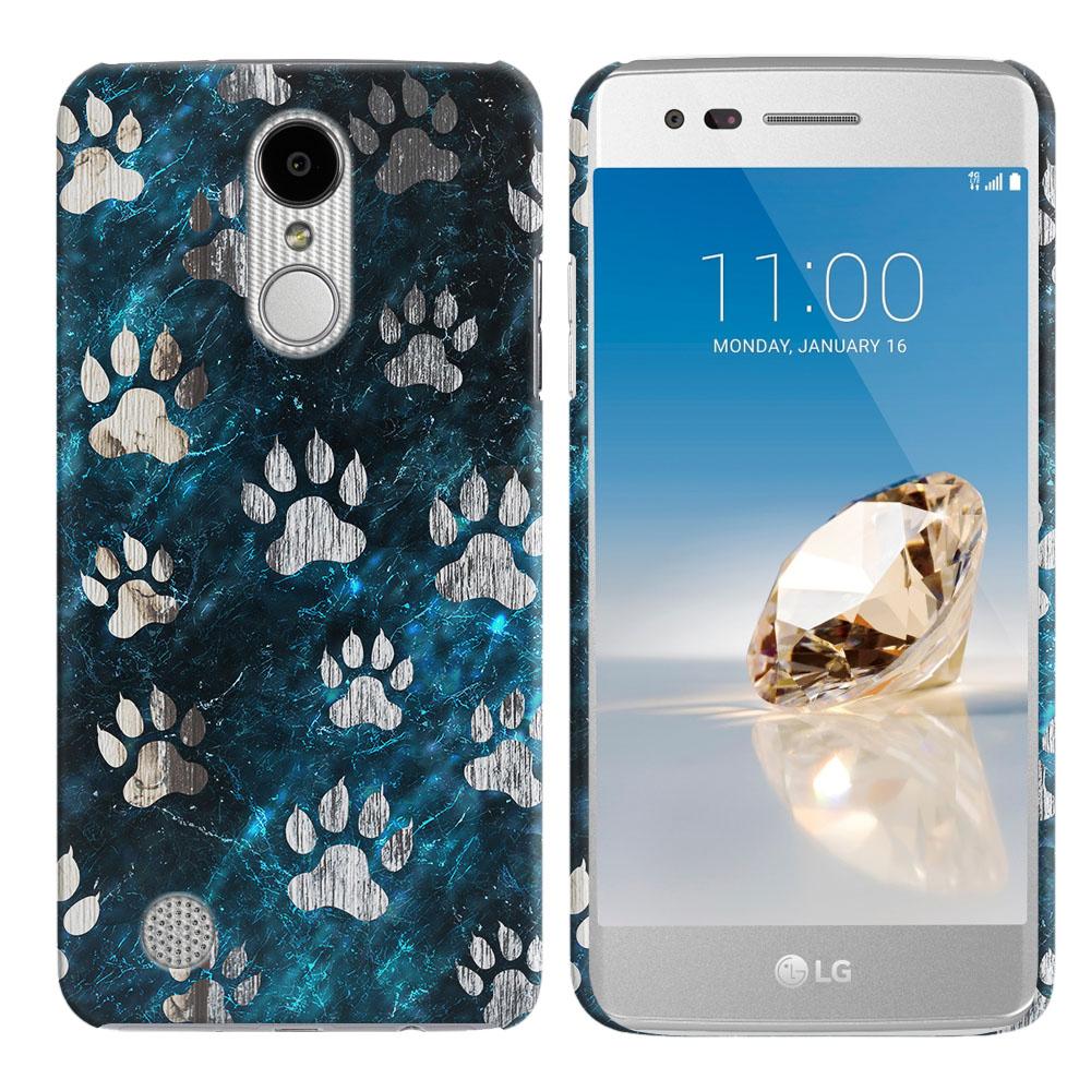 LG Aristo MS210 LV3 K8 (2017)/ Phoenix 3 M150 Silver Dog Paws Back Cover Case