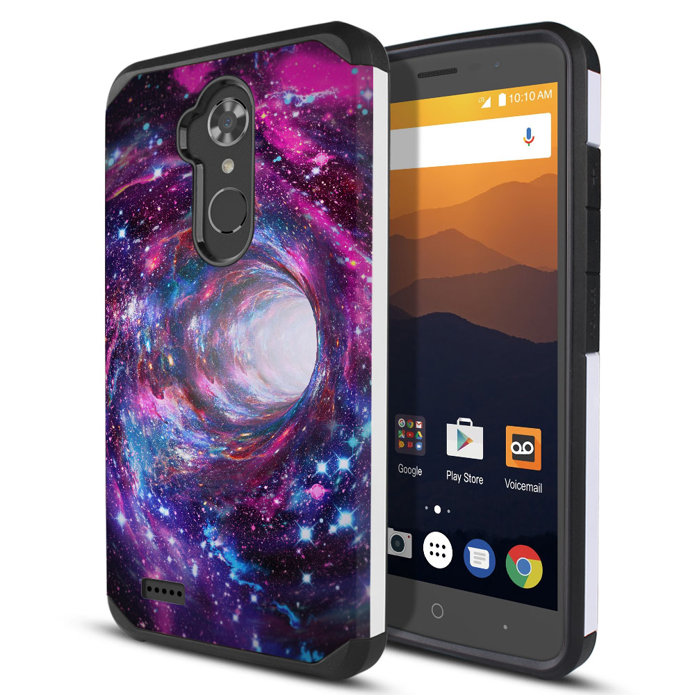 ZTE Max XL N9560 Hybrid Slim Fusion Space Wormhole Protector Cover Case
