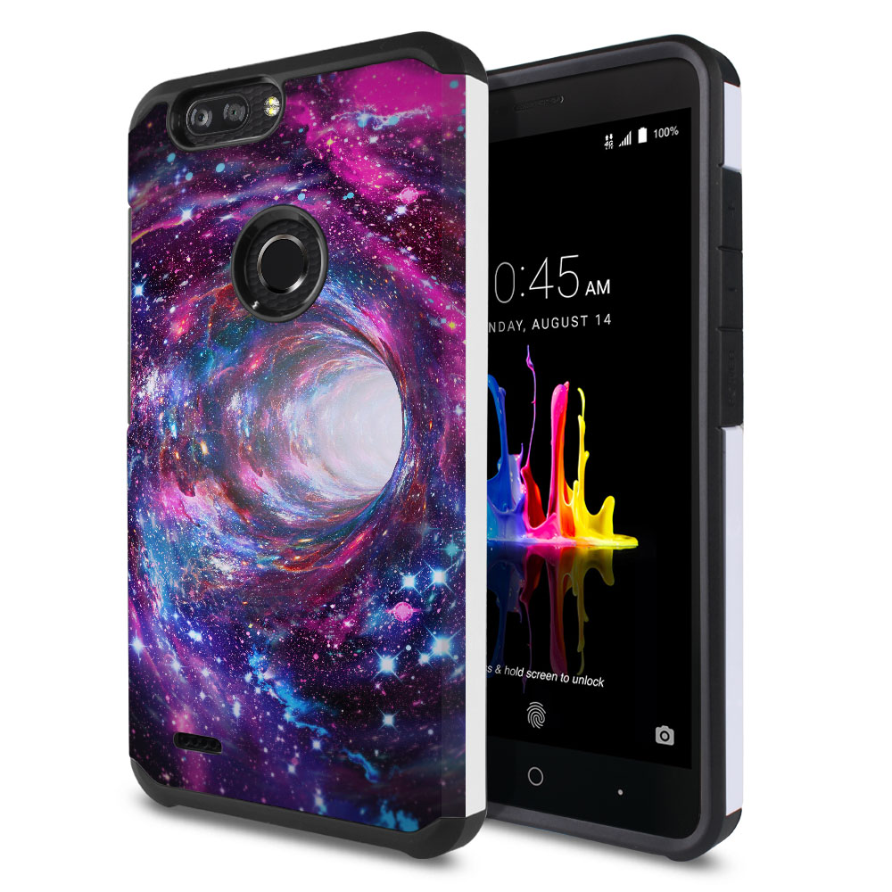 ZTE Blade Z Max Z982/ Sequoia Hybrid Slim Fusion Space Wormhole Protector Cover Case