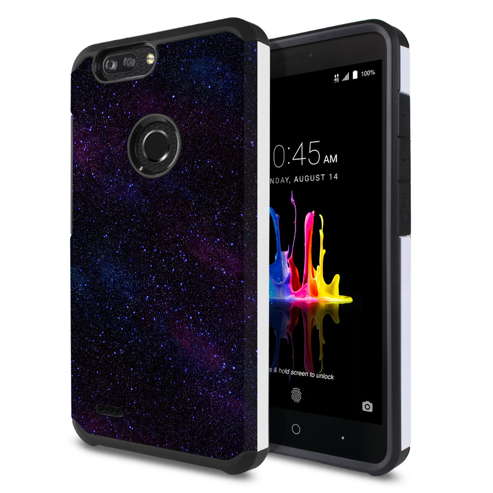 ZTE Blade Z Max Z982/ Sequoia Hybrid Slim Fusion Starry Night Sky Protector Cover Case