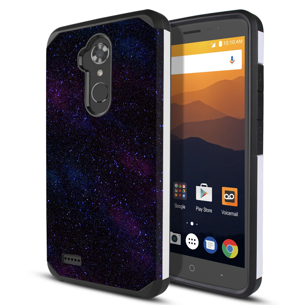 ZTE Max XL N9560 Hybrid Slim Fusion Starry Night Sky Protector Cover Case
