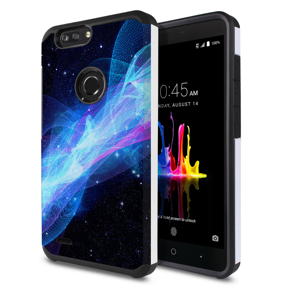 ZTE Blade Z Max Z982/ Sequoia Hybrid Slim Fusion Glowing Space Wave Protector Cover Case