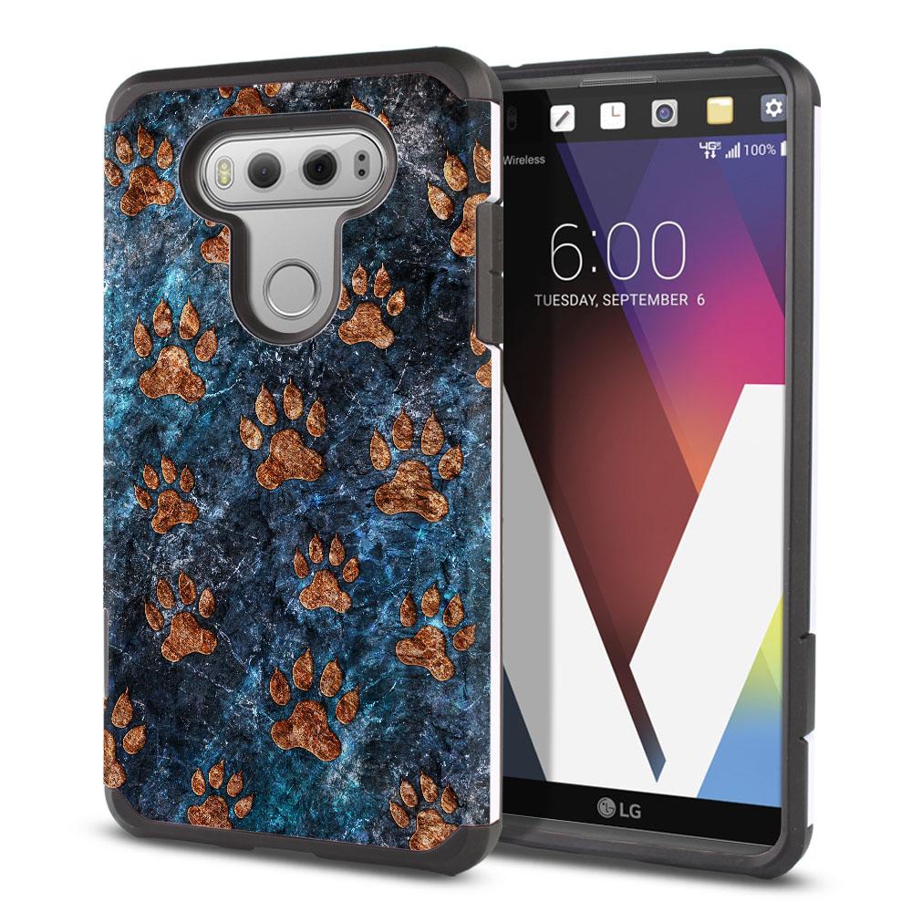 LG V20 VS995 H990 LS997 H910 H918 US996 Hybrid Slim Fusion Stone Dog Paws Protector Cover Case