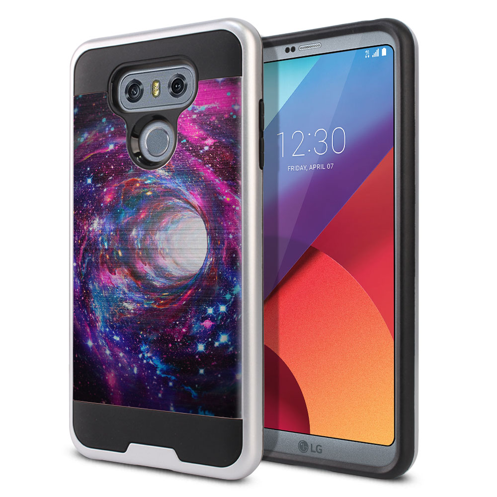LG G6 H870 Hybrid Fusion Brushed Space Wormhole Protector Cover Case