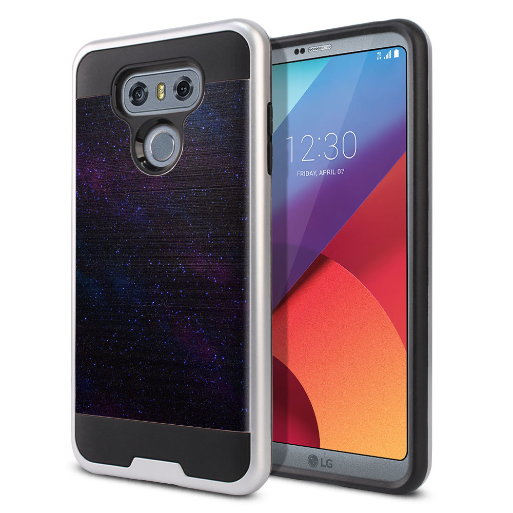 LG G6 H870 Hybrid Fusion Brushed Starry Night Sky Protector Cover Case