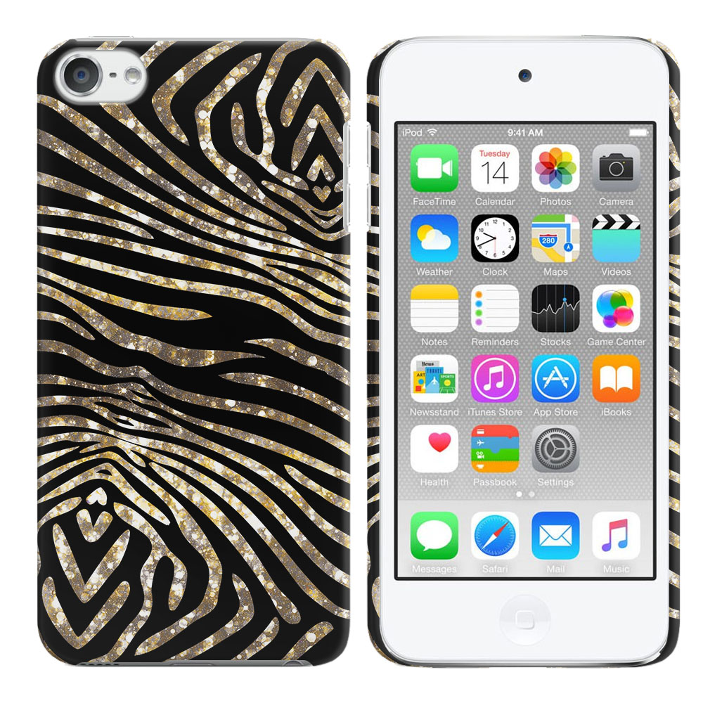 Apple iPod Touch 6 (6th Generation) Zebra Stripes Gold Back Cover Case
