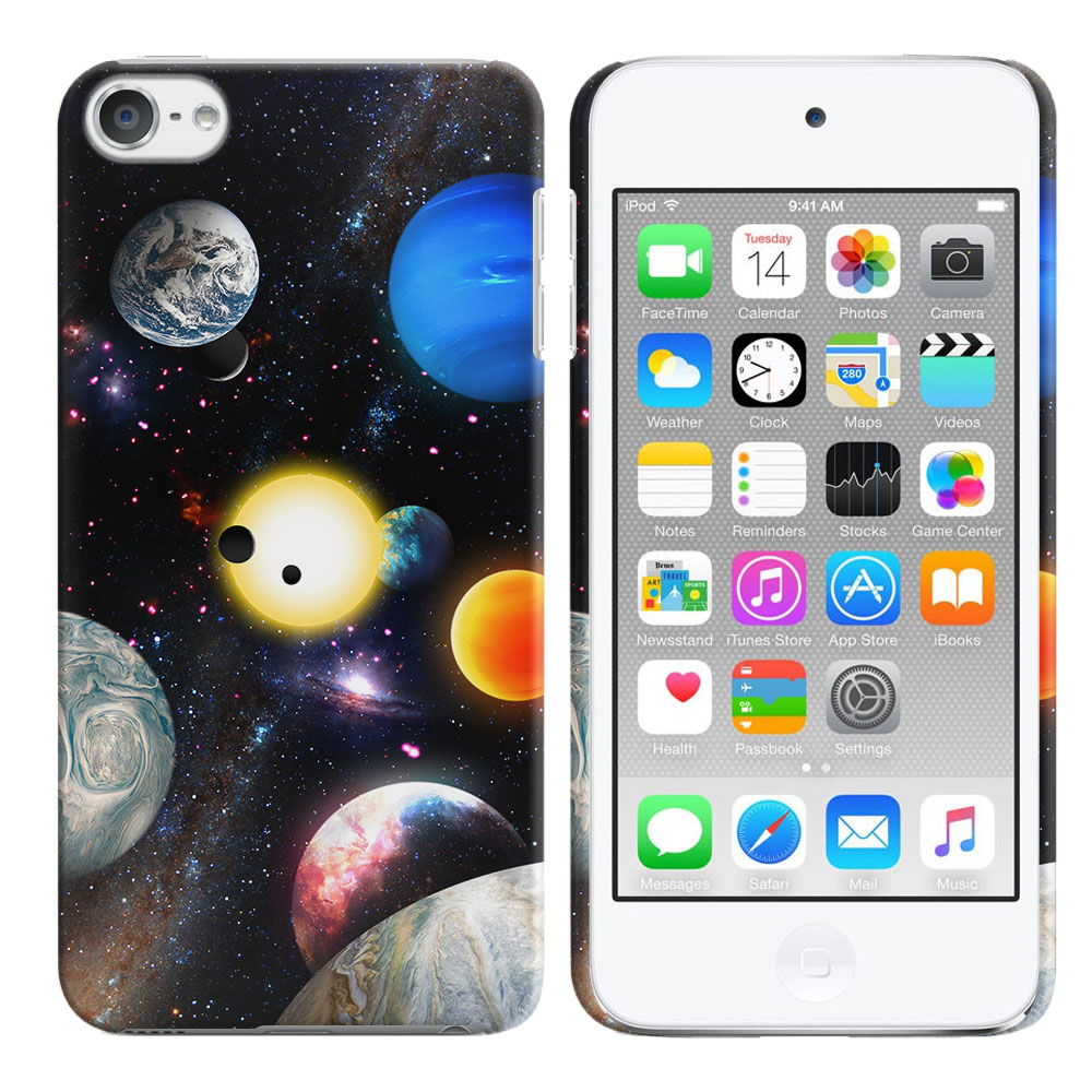 Apple iPod Touch 6 (6th Generation) Planet Solar System 2 Back Cover Case